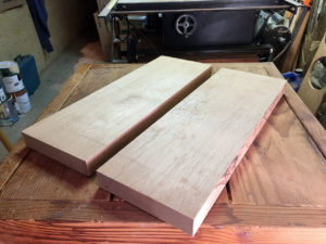 alder blank, cut and planed